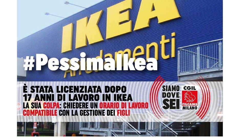 Licenziamenti Ikea, la Filcams Cgil: