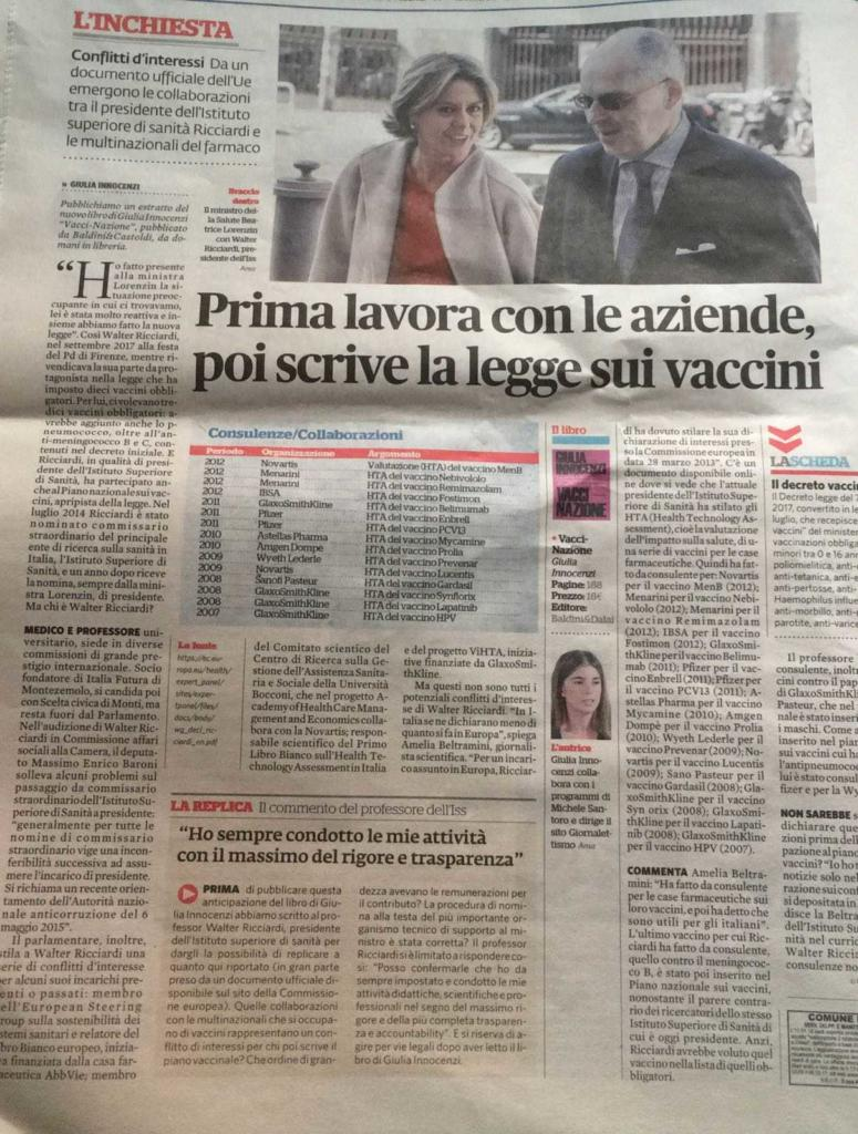 Fatto Quotidiano vaccini