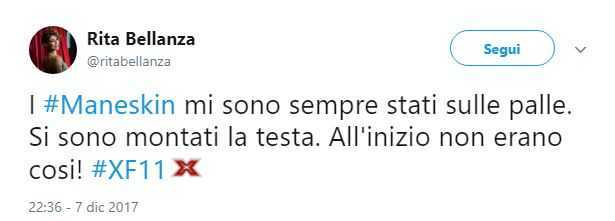 Rita Bellanza tweet