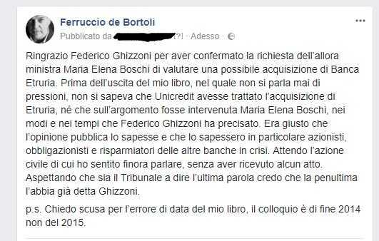 Etruria, Ghizzoni conferma interesse Boschi. Spunta una mail di Carrai
