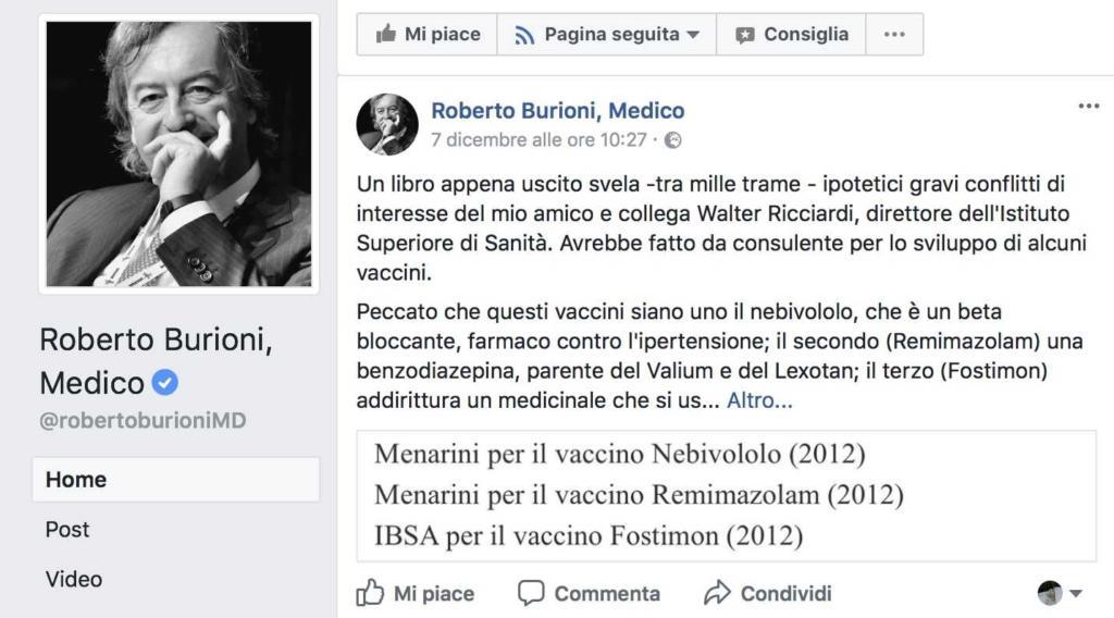 post Burioni