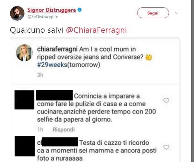 Chiara Ferragni ai fan: