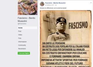fascismo facebook