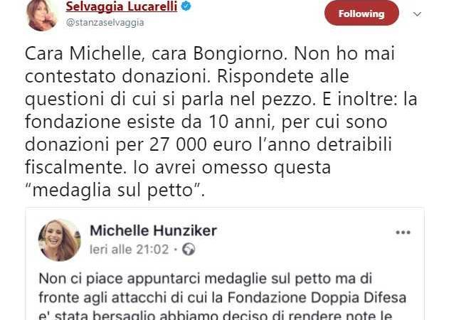 Lucarelli contro Hunziker