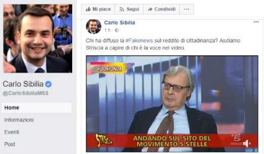 Striscia la notizia, Vittorio Sgarbi autore delle fake news sulle code ai Caf per il reddito di cittadinanza. Ma è una bufala