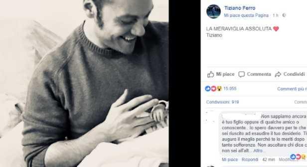 Tiziano Ferro è diventato papà? La foto su Instagram