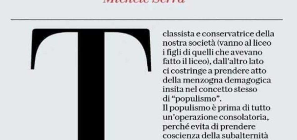 Michele Serra polemica