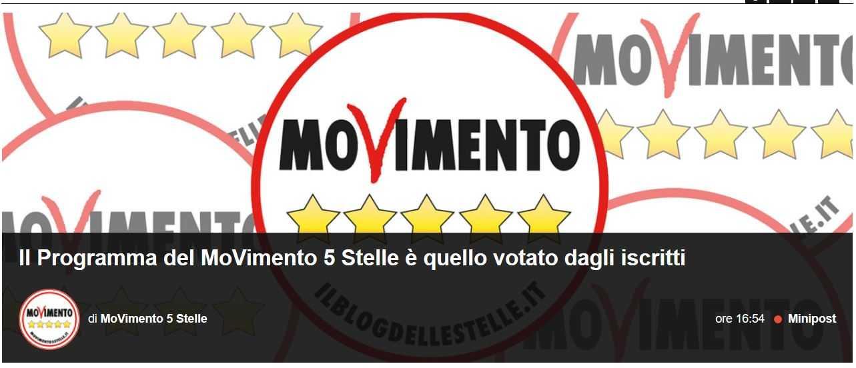 Il movimento 5 stelle ha smentito il foglio sulle for Esponenti movimento 5 stelle