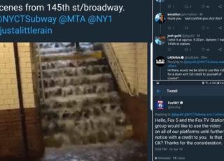 piove in metro New York